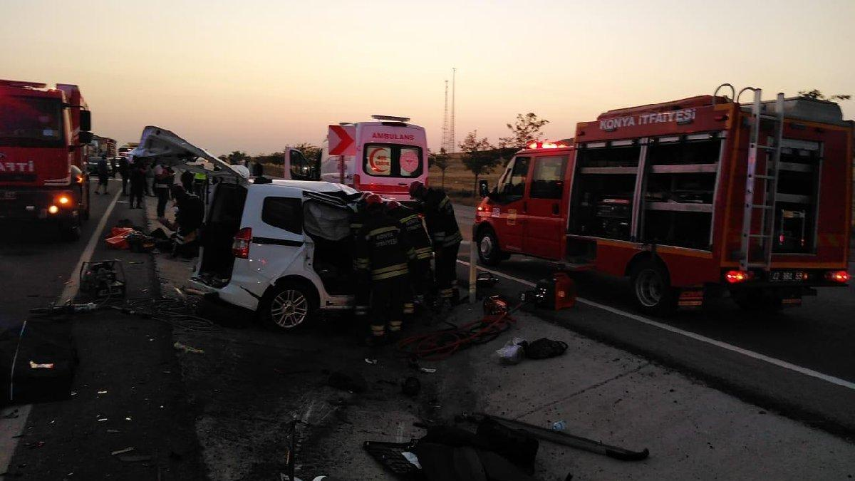Konya'da korkunç kaza: Altı can kaybı