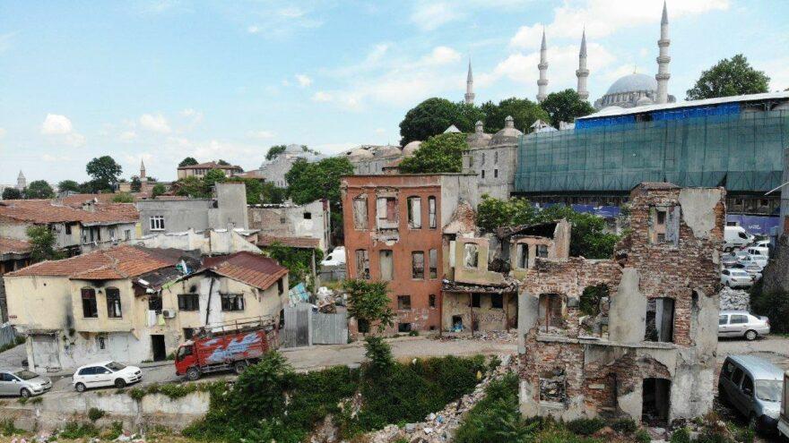 Yenileneceği söylenen Süleymaniye kentsel çöküntü alanı oldu