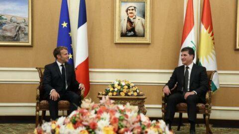 Fransa Cumhurbaşkanı Macron, Barzani ile görüştü