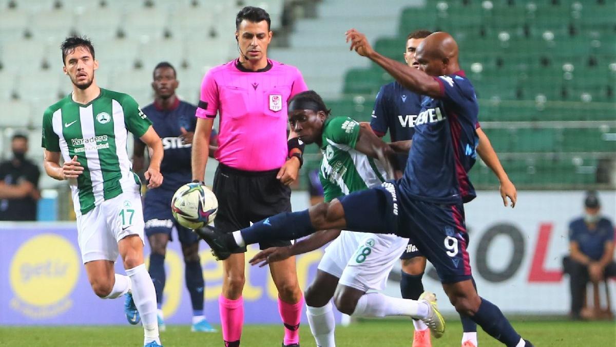 Giresunspor-Trabzonspor maçında üç puan tek golle geldi