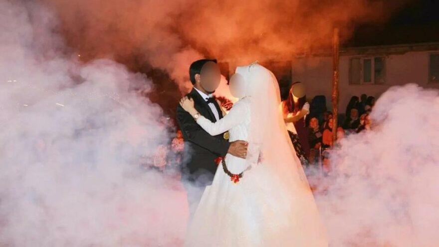 Coronalı gelinin düğünü mahallelinin kâbusu oldu