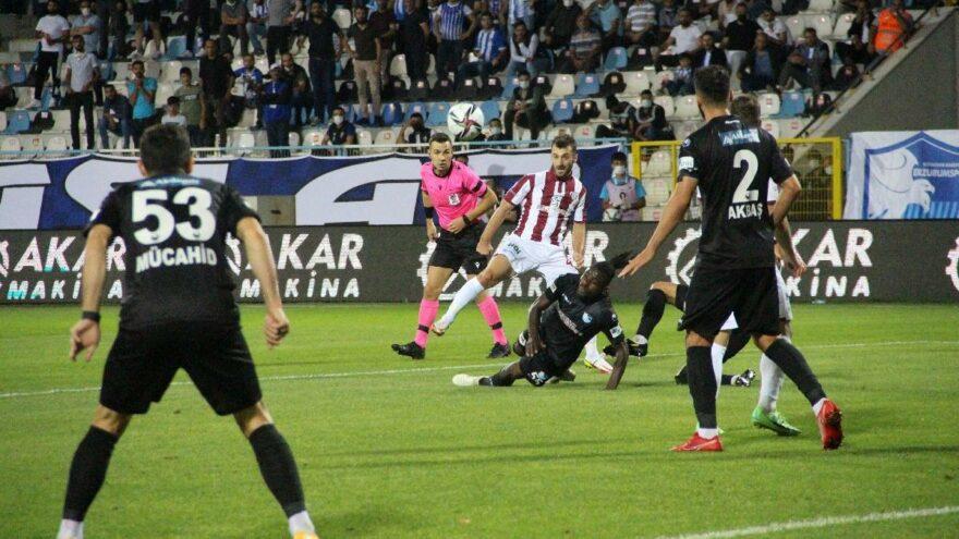 Erzurumspor Bandırmaspor maçında tek golle üç puan