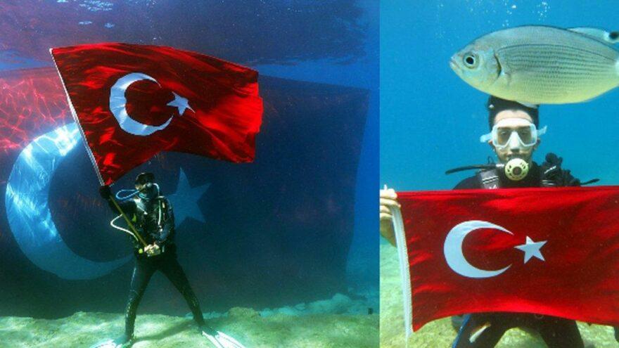 Zafer coşkusu denizin derinliklerinde yaşandı