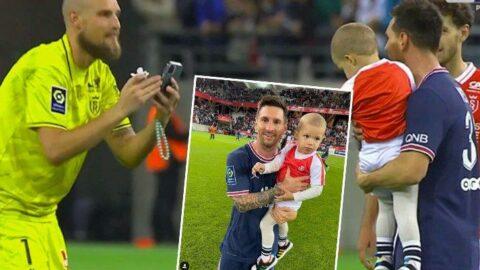 Oğlunu kaptı Messi'nin yanına koştu! Fransa'da ilk maç...