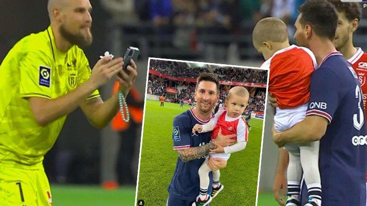 Oğlunu kaptı Messi'nin yanına koştu! Fransa'da ilk maç…