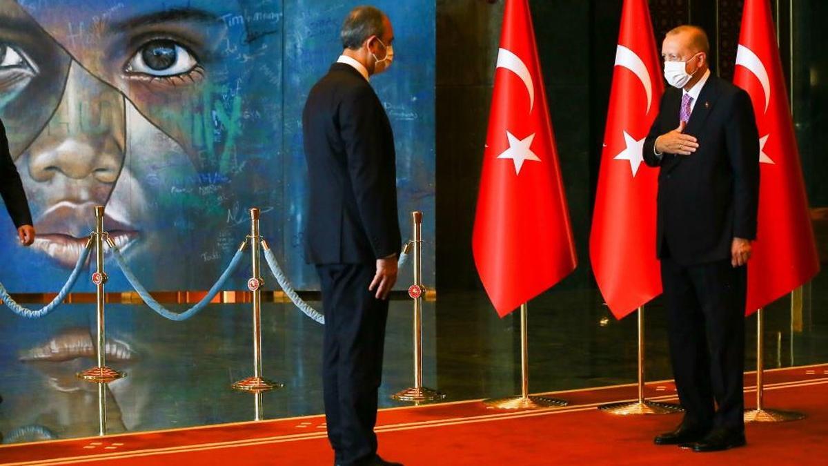 Erdoğan'ın tebrik kabulünde dikkat çeken tablo