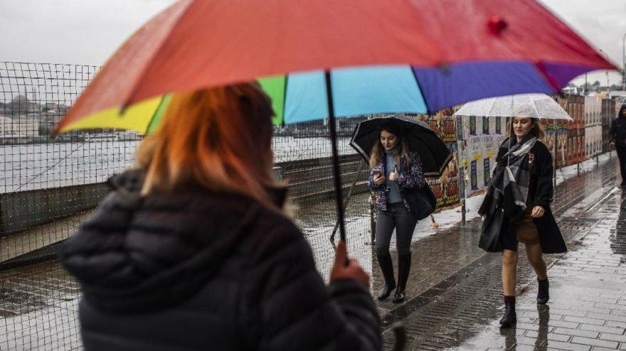 İstanbul ve çevresine sağanak yağış uyarısı