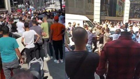 İstanbul'da esnafla nakliyeciler arasında satırlı kavga