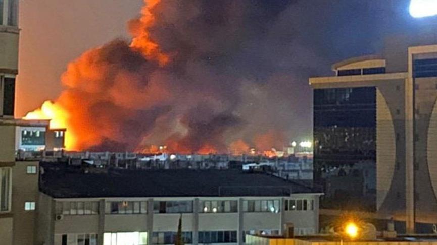 İstanbul'da büyük yangın! Patlamalar da oluyor