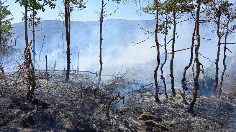 Dünyanın ikinci büyük kraterindeki yangın kontrol altında