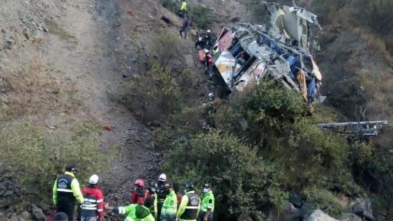 And Dağları'nda otobüs uçuruma düştü: 29 ölü