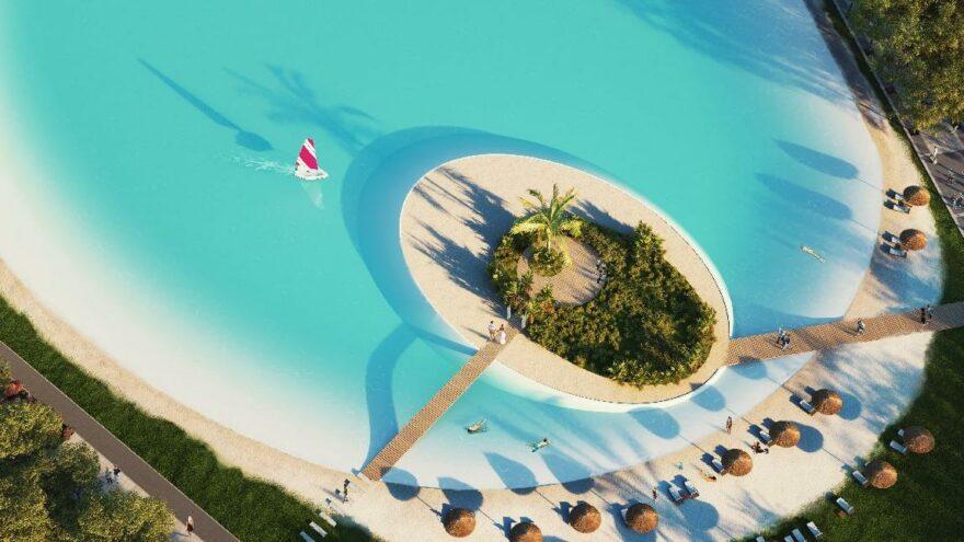 Avrupa'nın en büyük kristal lagün havuzu Maraş'ta