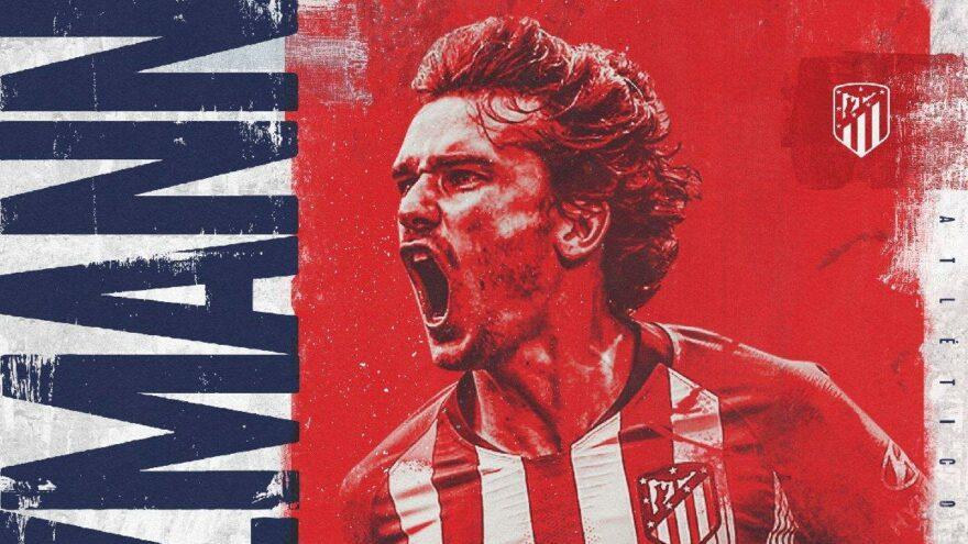 Atletico Madrid transferin son anlarında Antoine Griezmann'ı kadrosuna kattı