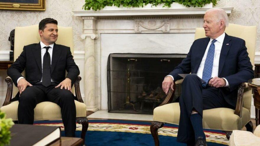 Biden ve Zelenskiy, Beyaz Saray'da bir araya geldi