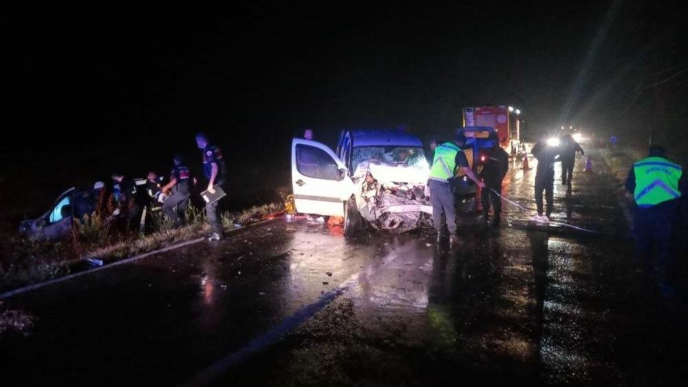 Tekirdağ'da feci kaza: 7 yaralı