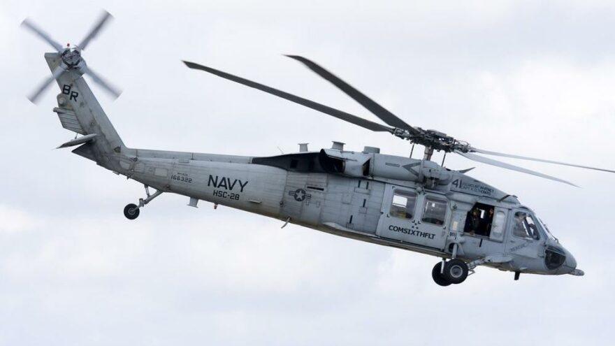 ABD Donanması helikopteri okyanusa düştü