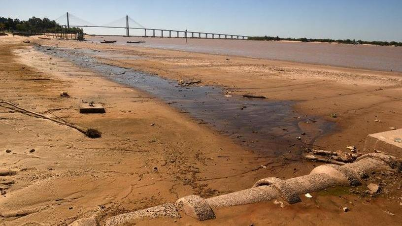 Parana Nehri'nde su seviyesi 77 yılın en düşük seviyesinde
