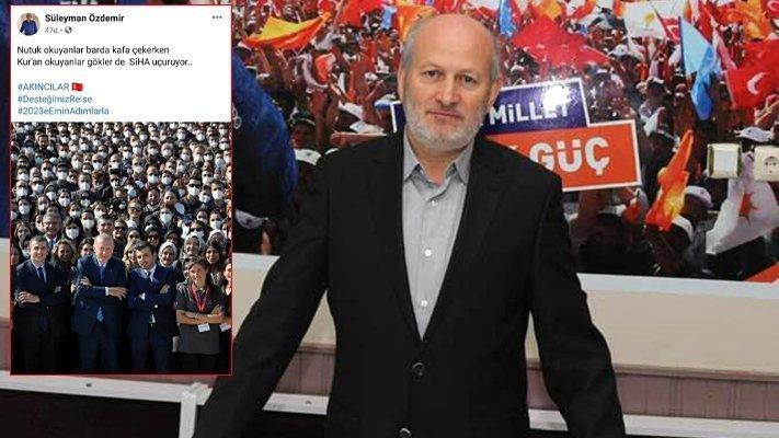 'Nutuk' paylaşımı tepki çeken AKP'li başkan çark etti