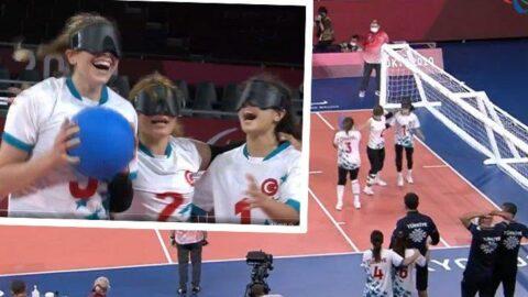 Muhteşem gurur! Kadın Golbol Milli Takımımız finalde...