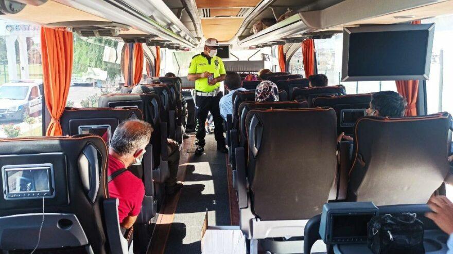 Dört günde 24 bine yakın yolcu otobüsü denetlendi