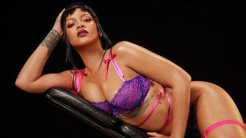 Dolar milyarderi de olsa işinin başında... Rihanna yeni kreasyonu kendisi tanıttı