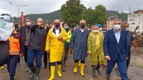 KKTC Cumhurbaşkanı Tatar, sel felaketinin yaşandığı Bozkurt'ta