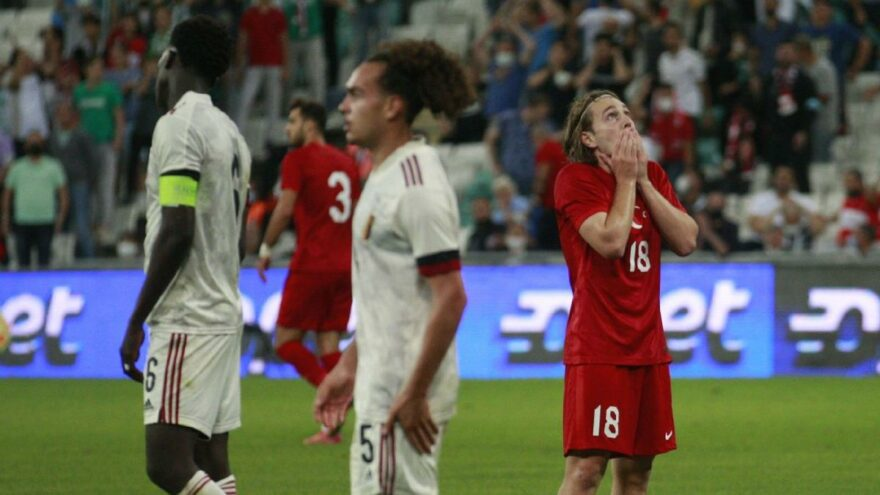 Türkiye U21 Milli Takımı Belçika'ya farklı mağlup oldu
