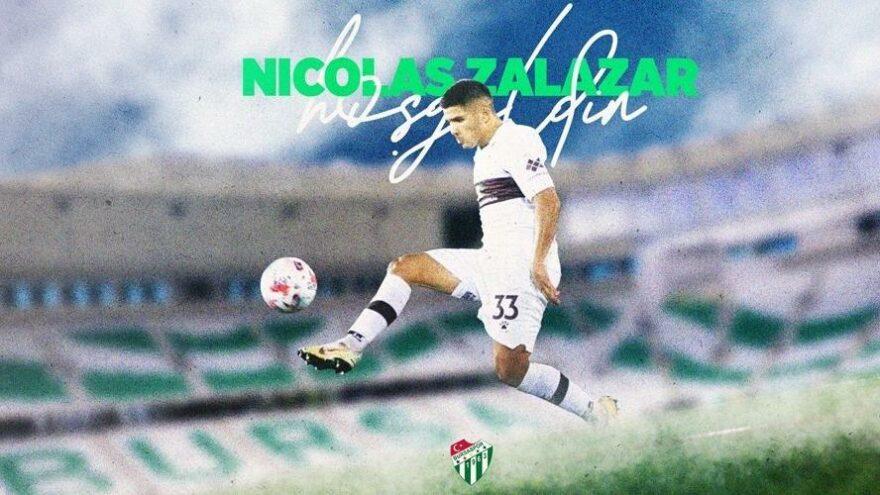 Nicolas Zalazar resmen Bursaspor'da