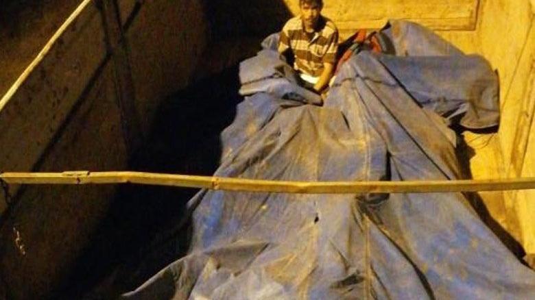 Branda altına gizlenmiş göçmenler yakalandı