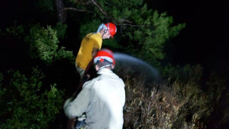 Datça'daki örtü yangını ekipleri harekete geçirdi