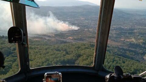 İzmir'de ziraat arazisinde çıkan yangın kontrol altında