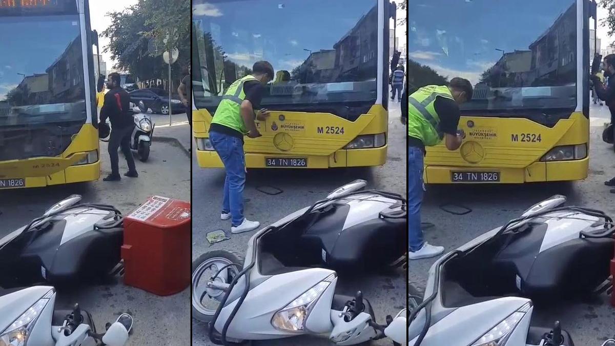 Kazaya sinirlenen motokurye dehşet saçtı