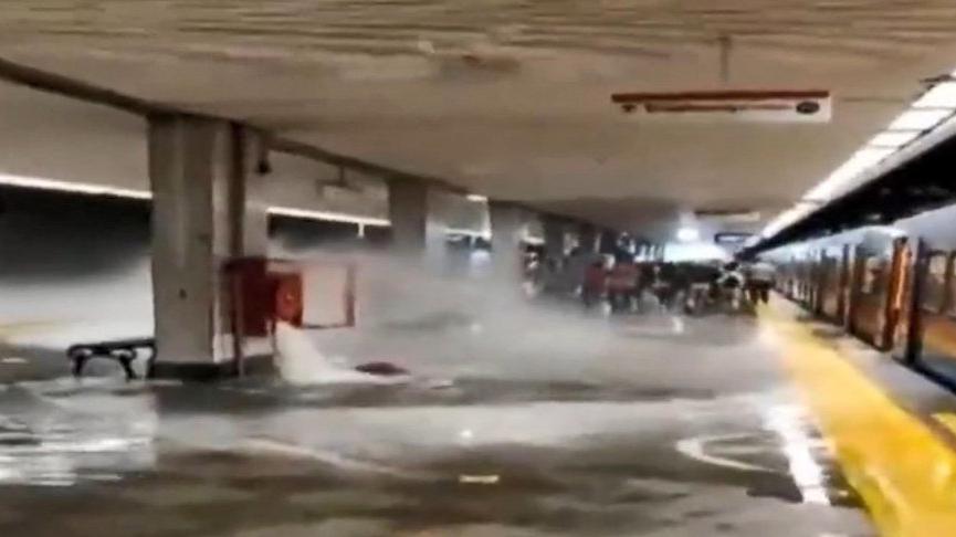Temizlik görevlisi su alırken vana kırıldı, metroyu su bastı