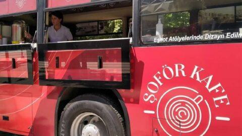 Eski otobüsler kafe oldu