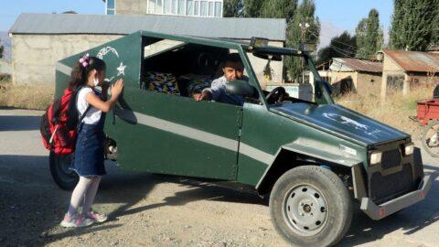 Hira'nın babası, bu kez de araç yapıp, onu okuluna bıraktı