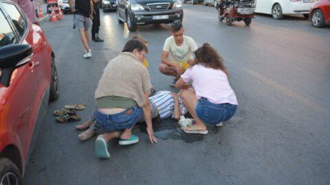 Kazayı gördü, 112'den yardım istedi, yaralı kadın eşi çıktı!