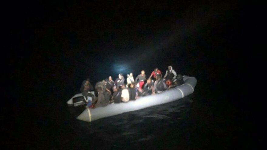 Marmaris'te 32 göçmen kurtarıldı