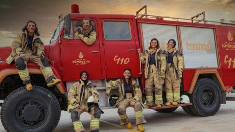 İBB itfaiye tarihinde bir ilk; kadın itfaiyeciler iş başında!