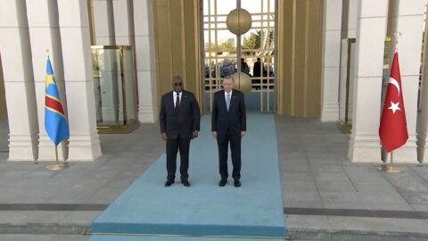 Kongo Cumhurbaşkanı Beştepe'de resmi törenle karşılandı