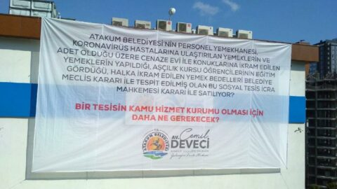 CHP'li başkandan hacizlere afişli tepki