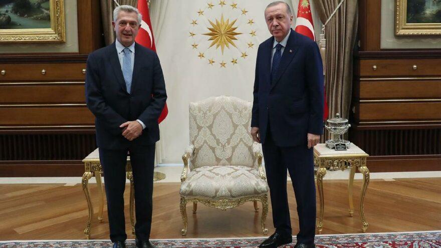 Erdoğan, BM Mülteciler Yüksek Komiseri Grandi'yle görüştü