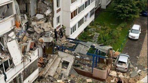 Rusya'da 9 katlı binada doğal gaz patlaması
