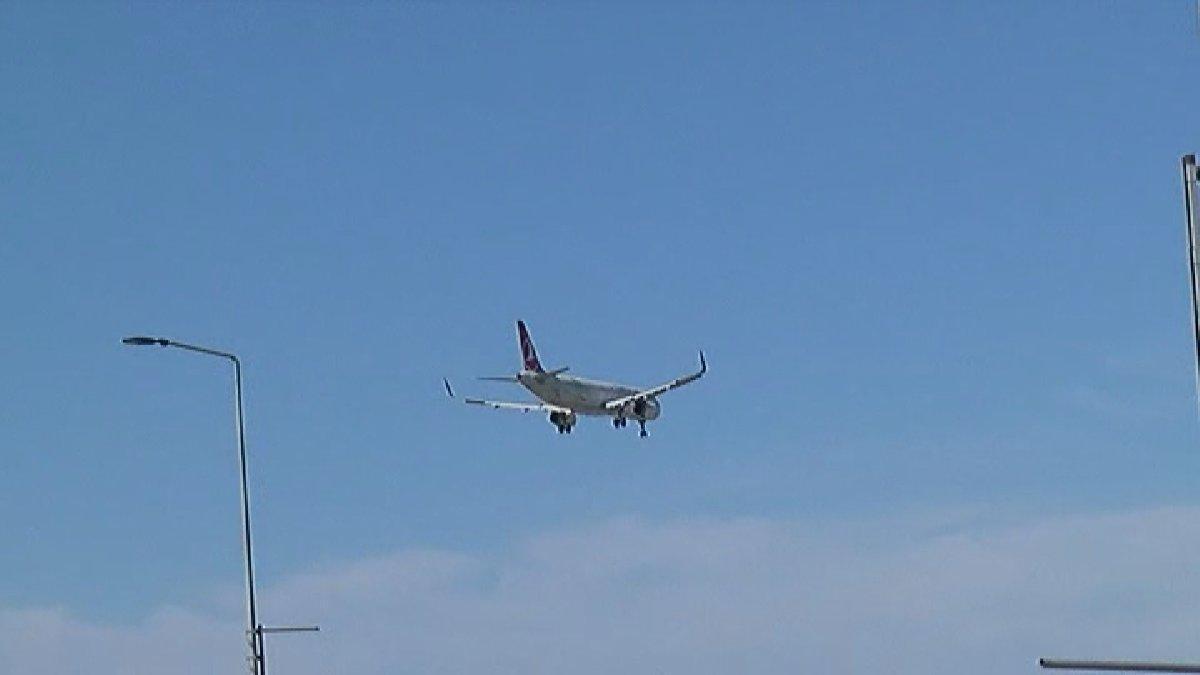 Uçak düştü ihbarı asılsız çıktı