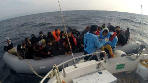 9 ayda Yunanistan'ın geri ittiği 1541 kaçak göçmenkurtarıldı