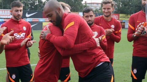Galatasaray'da Marcao ile Kerem Aktürkoğlu takım önünde barıştı