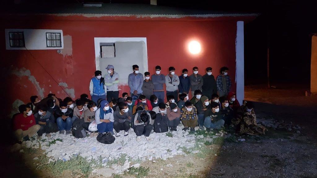 Bodrumda 46 kaçak göçmen yakalandı