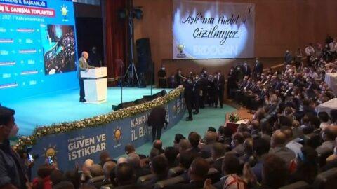 AKP'den dikkat çeken hudut pankartı