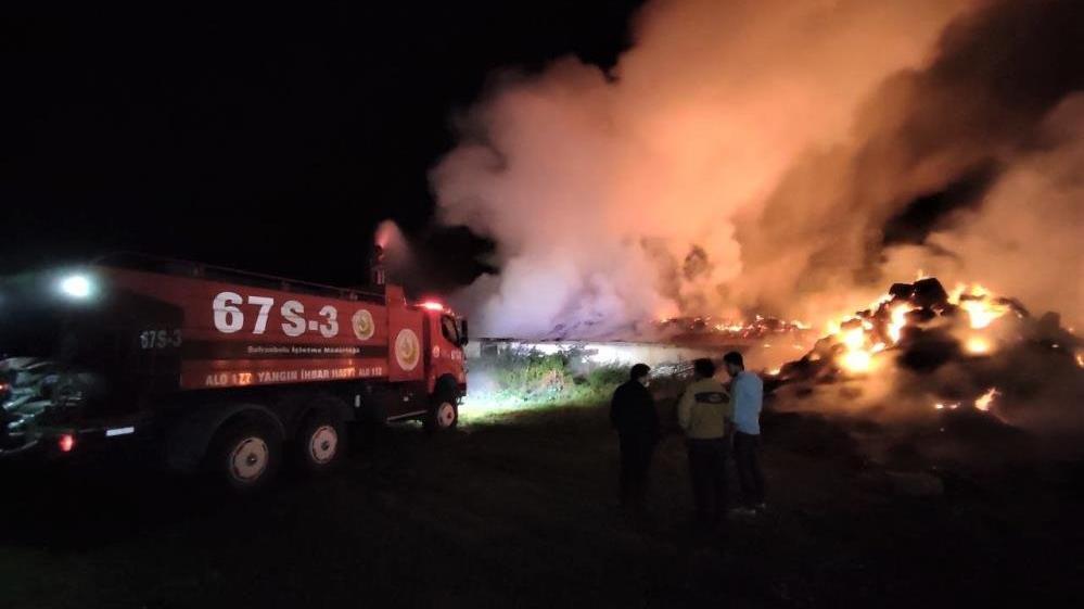 Karabük'te besi çiftliği cayır cayır yandı, hayvanlar son anda kurtarıldı