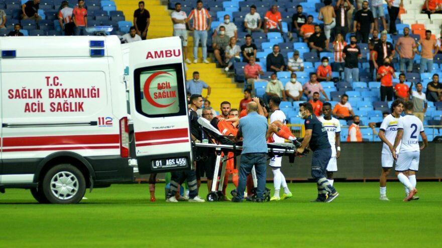 Adanasporlu Berkan Fırat'ın ayağı kırıldı, hakem sarı kart verdi!