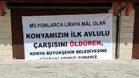 AKP'nin kalesinde pankartlı eylem: Kiramızı ödeyemiyoruz